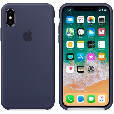 Чехол для смартфона Apple iPhone X Silicone Case - Midnight Blue (MQT32ZM/A) чехол для iphone apple iphone 7 silicone case midnight blue mmwk2zm a