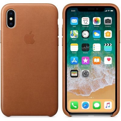 Чехол для смартфона Apple iPhone X Leather Case - Saddle Brown (MQTA2ZM/A) apple mnyw2zm a iphone se leather case saddle brown zml