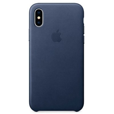Чехол для смартфона Apple iPhone X Leather Case - Midnight Blue (MQTC2ZM/A) аксессуар чехол apple iphone 8 7 leather case cosmos blue mqhf2zm a