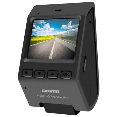 Видеорегистратор Digma FreeDrive 500 GPS MAGNETIC черный (FREEDRIVE 500)