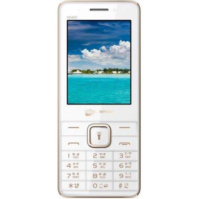 Мобильный телефон Micromax X2420 белый шампань (X2420 White Champagne) сотовый телефон micromax q409 champagne