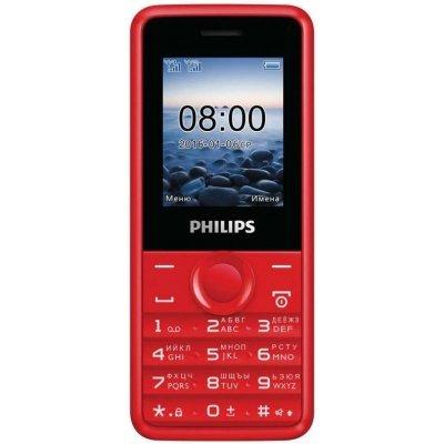 Мобильный телефон Philips E106 32 Мб Красный (E106 Red) philips e106 red