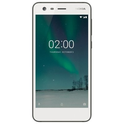 Смартфон Nokia 2 Dual Sim TA-1029 White 8Gb White (Белый) (Nokia 2 DS TA-1029 WHITE Смартфон) смартфон nokia 2 dual sim ta 1029 16gb cooper медный 11e1mm01a03