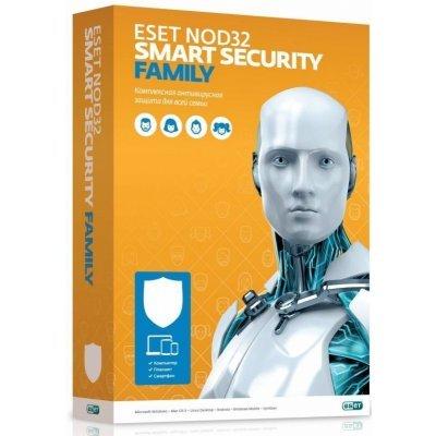 Антивирусная программа для дома ESET Smart Security Family - универ лиц продл на 20 мес или новая на 3 devices 1 year Card (NOD32-ESM-1220(CARD)-1-3) (NOD32-ESM-1220(CARD)-1-3)