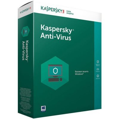 Антивирусная программа для дома Kaspersky Anti-Virus Russian Edition 2-Desktop 1 year Base Box (KL1171RBBFS) (KL1171RBBFS)