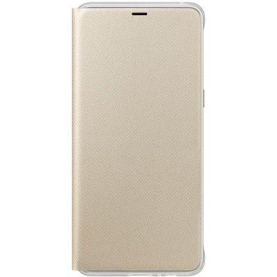 Чехол для смартфона Samsung Galaxy A8+ Neon Flip Cover золотистый (EF-FA730PFEGRU) (EF-FA730PFEGRU) чехол флип кейс samsung neon flip cover для samsung galaxy a3 2017 синий [ef fa320plegru]