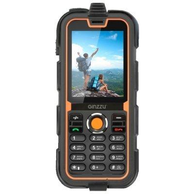 Мобильный телефон Ginzzu R2 Dual Black/Orange (Черный/Оранжевый) (GNZ-R2D-BKO) пылесос ginzzu vs402 orange
