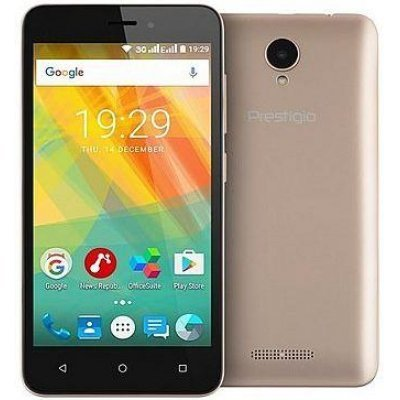 Смартфон Prestigio Wize G3 Gold (Золотой) (PSP3510DUOGOLD) ноутбук msi gl62m 7rex 2093xru 9s7 16j962 2093 intel core i7 7700hq 2 8 ghz 8192mb 1000gb 128gb ssd no odd nvidia geforce gtx 1050ti 4096mb wi fi bluetooth cam 15 6 1920x1080 dos