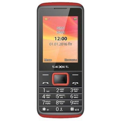 цена на Мобильный телефон Texet TM-214 Black-Red (Черный/Красный) (TM-214-BKR)