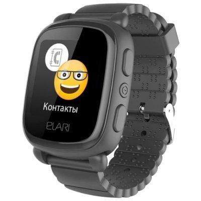 Умные часы Elari KidPhone 2 Black (Черные) (KP-2-BLACK) мобильный телефон ультратонкий elari cardphone
