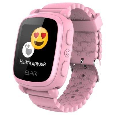 Умные часы Elari KidPhone 2 Rose (Розовые) (KP-2-PINK) аксессуар чехол elari для elari cardphone и iphone 6 plus blue