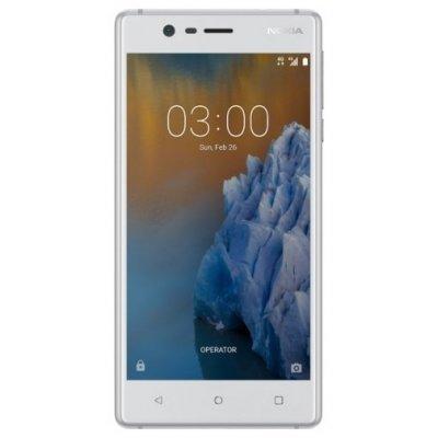 Смартфон Nokia 3 Dual Sim TA-1032 Silver White 16Gb (Б��лый) (TA-1032) смартфон nokia 8 dual sim polished blue