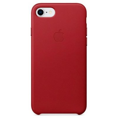 Чехол для смартфона Apple Leather Case iPhone 8/7 RED (Красный) (MQHA2ZM/A) аксессуар чехол apple iphone 8 7 leather case cosmos blue mqhf2zm a