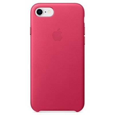 Чехол для смартфона Apple Leather Case iPhone 8/7 Pink Fuchsia (Фуксия) (MQHG2ZM/A) аксессуар чехол apple iphone 8 7 leather case cosmos blue mqhf2zm a
