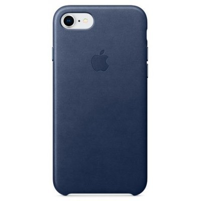 Чехол для смартфона Apple Leather Case для iPhone 8/7 Midnight Blue (Темно-синий) (MQH82ZM/A) аксессуар чехол apple iphone 8 7 leather case cosmos blue mqhf2zm a