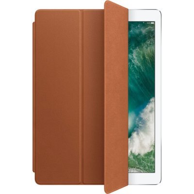 Чехол для планшета Apple Leather Smart Cover для iPad Pro 12.9 Saddle Brown (Коричневый) (MPV12ZM/A) apple mnyw2zm a iphone se leather case saddle brown zml