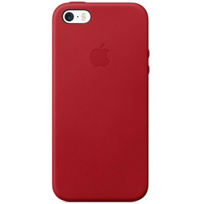 Чехол для смартфона Apple Leather Case для iPhone 5/5s/SE RED (Красный) (MR622ZM/A) apple mnyw2zm a iphone se leather case saddle brown zml