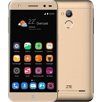 Смартфон ZTE BLADE V7 LITE 16GB Gold (Золотой) (BLADEV7LITE4GGOLD) смартфон lg k10 2017 gold mediatek mt6750 2gb 16gb 5 3 1280x720 3g 4g 13mp 5mp android 7 0