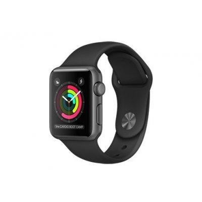 Умные часы Apple Watch Series 1 38mm алюминиевый корпус серый космос, ремешок черного цвета (MP022RU/A) смарт часы apple watch series 2