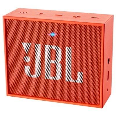 Портативная акустика JBL GO Оранжевый (JBLGOORG) портативная акустика jbl go бирюзовая jblgoteal