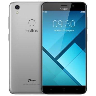 Смартфон TP-link Neffos C7 LTE 2/16Gb Cloudy Grey (Серый) (TP910A24RU) для tp link neffos y5 дело тпу дело lovphone тпу телефон дело прикрыть tp связь neffos y5