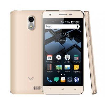 Смартфон Vertex Impress Star 3G 8Gb Gold (Золотой) (VSTRGLD) micromax q354 3g 8gb copper gold
