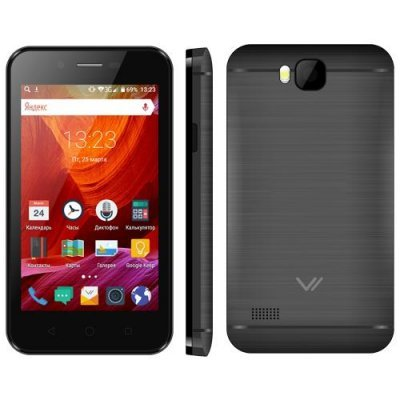 Смартфон Vertex Impress Fun 3G 4Gb Black (Черный) (VFNBBR) смартфон vertex impress fun черный 4 4 гб wi fi gps 3g vfnbbr