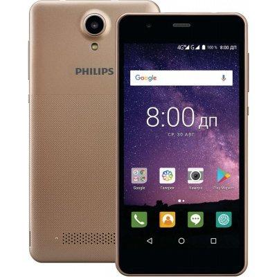 Смартфон Philips S318 LTE 16Gb Gold (Золотой) (S318 Gold) смартфон philips s318 dark grey