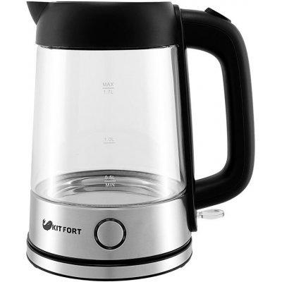 Электрический чайник Kitfort КТ-609 Серебристый/Черный (КТ-609) чайник электрический kitfort кт 615 2