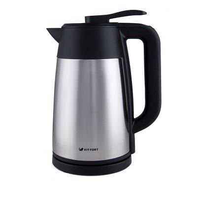 Электрический чайник Kitfort КТ-620-2 Серебристый/Черный (КТ-620-2) чайник электрический kitfort кт 615 2