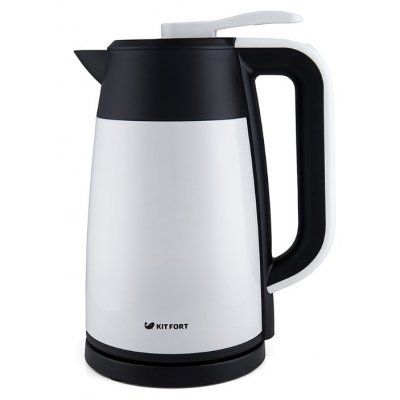 Электрический чайник Kitfort КТ-620-1 Белый/Черный (КТ-620-1)