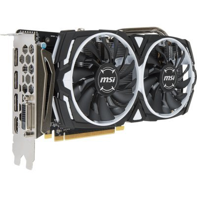 Видеокарта ПК MSI RX 570 ARMOR 8G OC (RX 570 ARMOR 8G OC) видеокарта 6144mb msi geforce gtx 1060 gaming x 6g pci e 192bit gddr5 dvi hdmi dp hdcp retail
