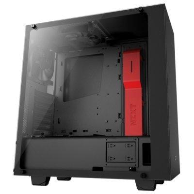 Корпус системного блока NZXT S340 ELITE Black/red без БП (CA-S340W-B4) корпус nzxt s340 black
