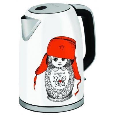 Электрический чайник Polaris PWK 1715CA Белый/Рисунок (PWK 1715CA) чайник электрический polaris pwk 1714cgld