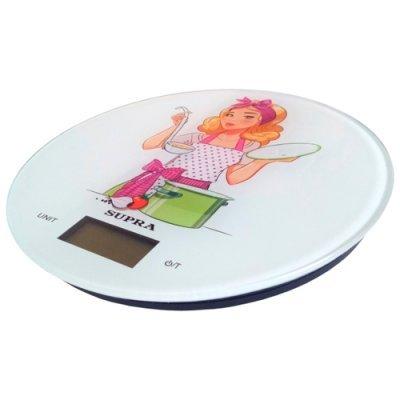 Весы кухонные Supra BSS-4602 Белый/Рисунок (11636) кухонные весы redmond rs 736 полоски