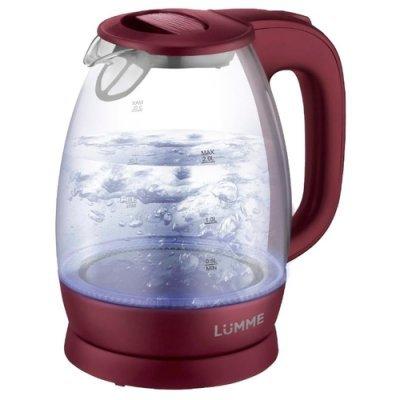 Электрический чайник Lumme LU-136 Красный гранат (LU-136 красный гранат) мультиварка lumme lu 1446 туманный нефрит 860 вт 5 л