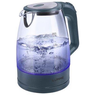 Электрический чайник Lumme LU-138 Серый жемчуг (LU-138 серый жемчуг) мультиварка lumme lu 1446 туманный нефрит 860 вт 5 л