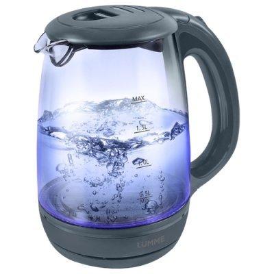 Электрический чайник Lumme LU-134 Серый жемчуг (LU-134 серый жемчуг) мультиварка lumme lu 1446 туманный нефрит 860 вт 5 л