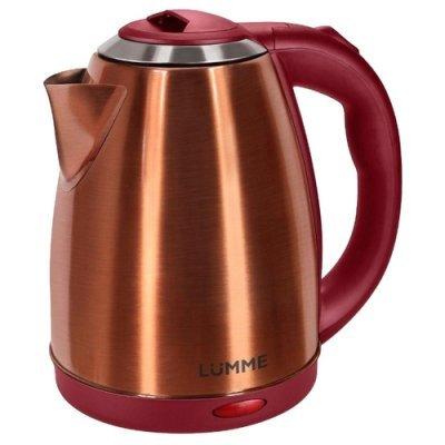 Электрический чайник Lumme LU-132 Красный рубин (LU-132 Красный рубин) мультиварка lumme lu 1446 туманный нефрит 860 вт 5 л