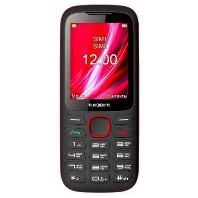 Мобильный телефон Texet TM-D228 Черный/Красный (TM-D228) мобильный телефон texet tm 204 красный 2 4 32 мб