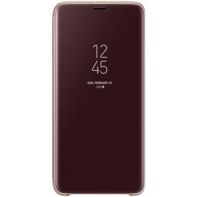 Чехол для смартфона Samsung Galaxy S9+ Clear View Standing золотистый (EF-ZG965CFEGRU) (EF-ZG965CFEGRU) чехол samsung s view standing для galaxy a7 2017 a720 ef ca720plegru blue