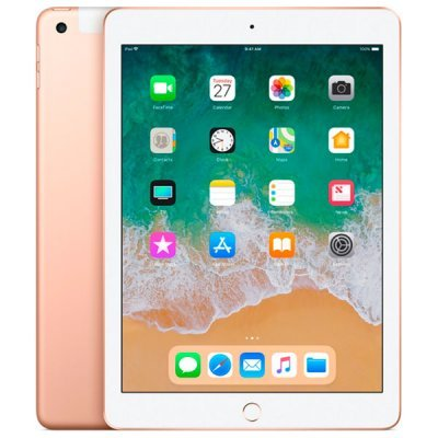 Планшетный ПК Apple iPad (2018) 32GB Wi-Fi + Cellular MRM02RU/A Gold (Золотой) (MRM02RU/A) MRM02RU/A