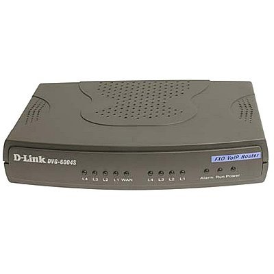 Маршрутизатор D-link DVG-6004S (DVG-6004S)VoIP шлюзы D-Link<br>4 FXO VoIP Gateway 4 10/100BASE-TX Fast Ethernet port (LAN), 1 10/100BASE-TX Fast Ethernet port (WAN) 4 FXO RJ-11 ports Support<br>