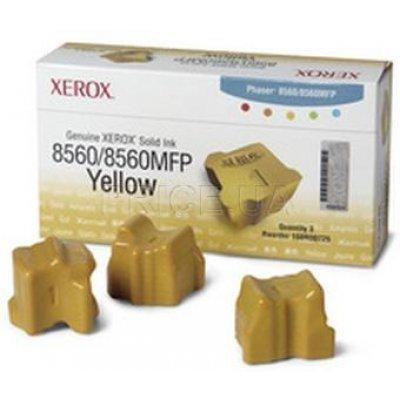 Набор твердочернильных брикетов Phaser 8560 Желтый 3 шт. ColorStix ink sticks (3000 pages) (108R00766)Твердочернильные брикет Xerox<br>Набор желтых твердочернильных брикетов (3шт.)<br>