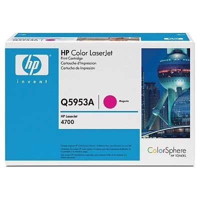 Картридж HP (Q5953A) к HP CLJ 4700 (10000 стр.), пурпурный (Q5953A)Тонер-картриджи для лазерных аппаратов HP<br>Для HP Color LaserJet 4700 (Q7491A), 4700dn (Q7493A), 4700dtn (Q7494A),  4700n (Q7492A), 4700PH+ (Q7495A)<br>