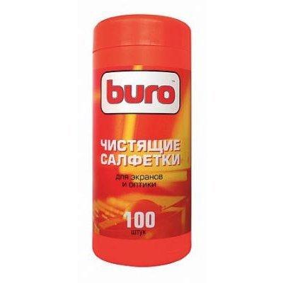 Туба с чистящими салфетками BURO, для экранов и оптики, 100 шт (BU-Tscreen)Чистящие средства для дисплеев Buro<br><br>