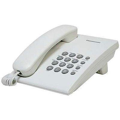 Проводной телефон Panasonic KX-TS2350 белый (KX-TS2350RUW) проводной телефон panasonic kx ts2350 серебристый kx ts2350rus