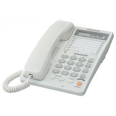 Проводной телефон Panasonic KX-TS2365 белый (KX-TS2365RUW) телефон проводной panasonic kx ts2350ru