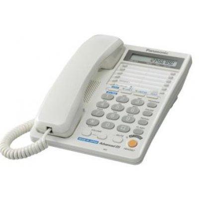 Проводной телефон Panasonic KX-TS2368 белый (KX-TS2368RUW) телефон panasonic kx dt546rub черный