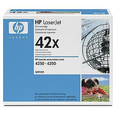 Двойная упаковка картриджа HP (Q5942XD) к HP LJ 4250/4350, черный (Q5942XD)Тонер-картриджи для лазерных аппаратов HP<br>40000 pages. для HP LaserJet 4350 серии (Q5410A)<br>